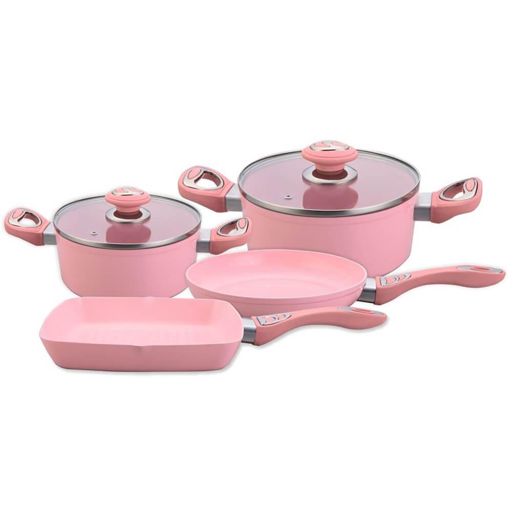 6pcs Beautiful Design Forged Aluminum Cookware Set