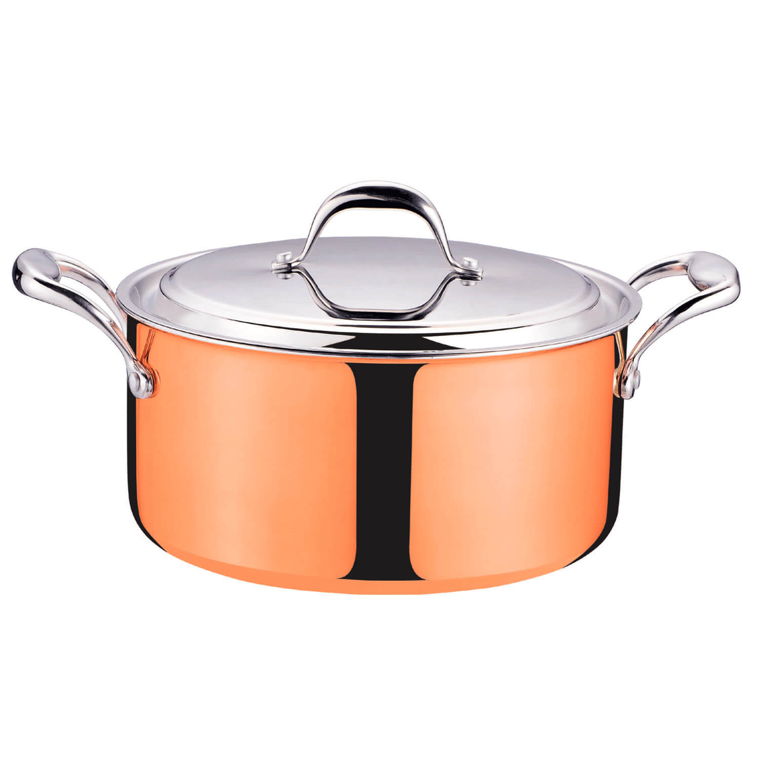 9pcs Home Cooking Tri Ply Clad Copper Cookware Set For All
