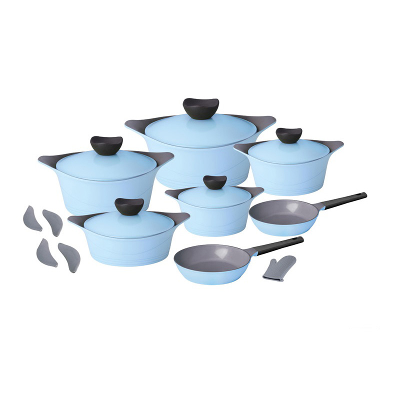 12pcs Smart Flying Series Cast Aluminum Ceramic Cookware